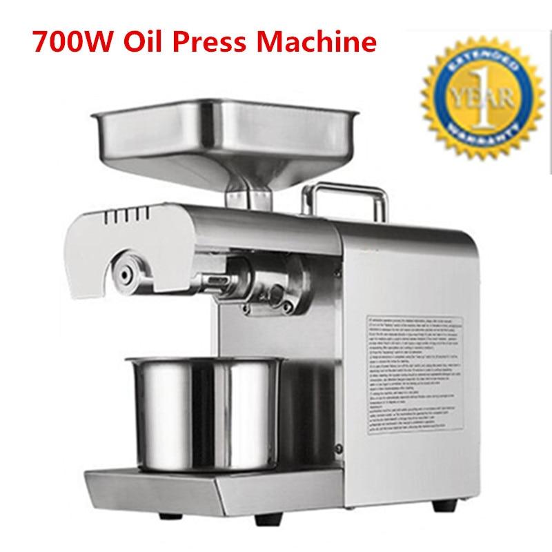 Stainless Steel Oil Press Machine Peanut Oil Presser For Sesame/Melon Seeds/Rapeseed/Flax/Walnut Oil Presser