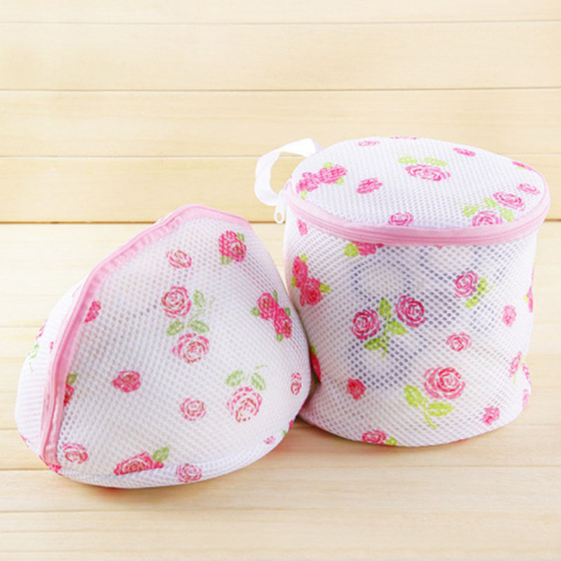 2PCS Women Bra Laundry Bag Lingerie Washing Hosiery Saver Protect Aid Mesh Bag Fashion Pastoral Style Bra Storage Bag