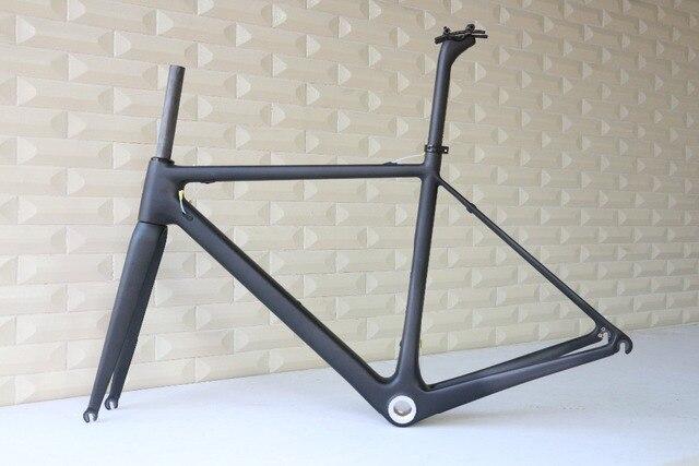 Cadre de vélo de route tout en Fiber de carbone T1000, tailles 48,50,52,54,56, 58 et 60cm, FM066