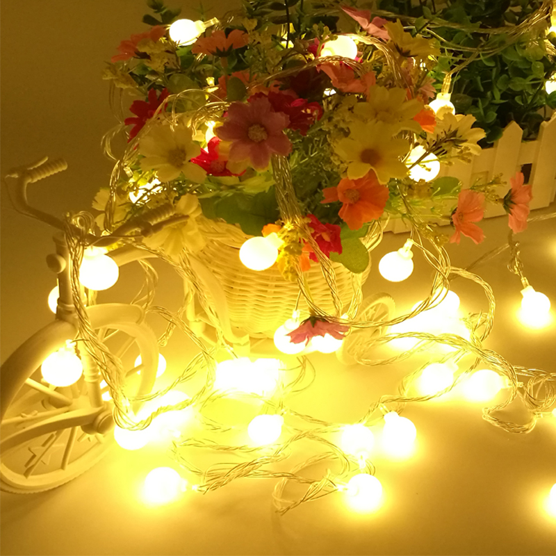 5m 20 Led fairy String Valot joulu Garland Ball lamp Bedside Garden party Häät koristelu kevyt loma 220V 110V