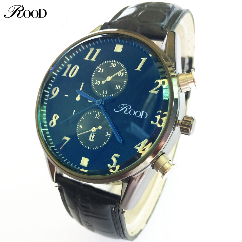 Blue Dial Relogio Masculino Watches Men Luxury Brand Famous With TOP Leather Strap Quartz Analog  Mens Military Watch Waterproof jbl synchros e40bt