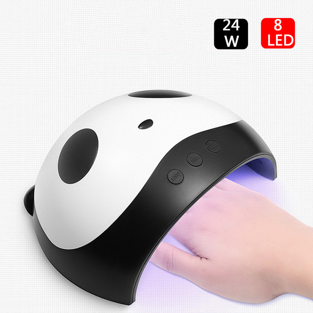 F.Lashes 36W/24W Panda Uv Lamp Gel Nail Polish Curing Led Nail Lamp Manicure Machine With Sensor USB Charge Nails Dryer Tools