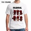 Yo-Young Men T Shirts Deadpool Wade Wilson Superheros Funny T shirtrs For Men Digital Printing 100% 180 gsm Combed Cotton