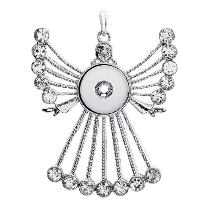 ff3f0c242811 Venta caliente rhinestone Ángel DIY collar pendiente 18mm botones de moda  DIY accesorios para la joyería apresurada XL0074