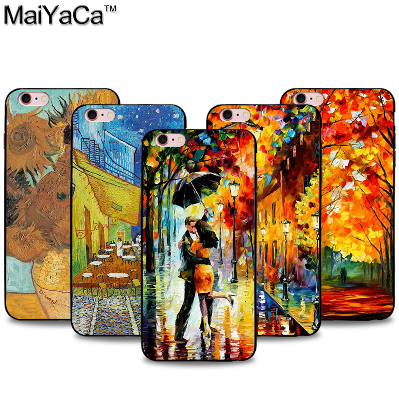 Novel Designs Expressive Maiyaca Van Gogh Starry Sky Oil Painting Black Soft Tpu Silicone Phone Case For Iphone 6 7 5s 6s 6plus 7plus Case Famous For Selected Materials Delightful Colors And Exquisite Workmanship
