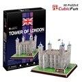 "Kingtoy 3 д головоломки бумаги крафт-Лондонский тауэр (Англия) ""игрушка-головоломка Ребенок Поделки Игрушки"