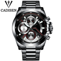 CADISEN Brand Military Sport Watch Men Fashion Watches Men's Wristwatch Army Quartz Clock Men Full Steel Male Relogio Masculino