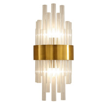 цены Nordic wall lamp crystal K9 Wall Light Sconce Gold color Foyer Living Bedroom Bedside Wall Lamp Light Sconce luxury 2 x E14 lamp