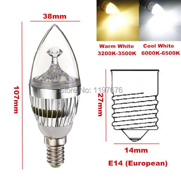 20 штук E14 светодиодные свечи лампочки 3*3 Вт 9 Вт B22/E27/E14 светодиодные лампочки серебро/золото В виде ракушки теплый белый/белый 110/220 В