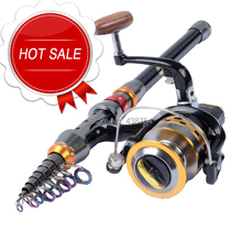 Carbon Fiber Telescopic Fishing Rod Portable Spinning Fishin