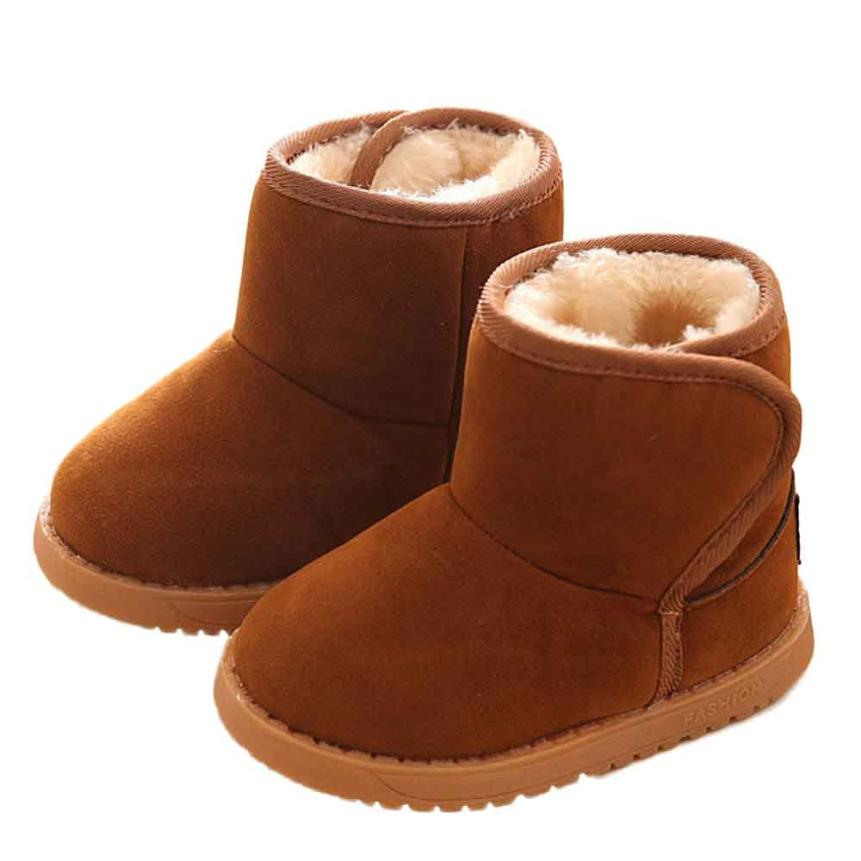 Baby Boots 2017 Fashion Winter Baby Child Style Cotton Boot Warm Snow Boots D50