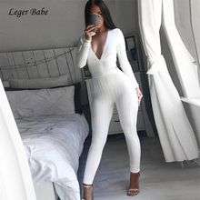 Buy nova jumpsuit and get free shipping on AliExpress com 2018 New Fashion Nova Womens Jumpsuit Long Sleeve White V Neck Backless  Clubwear Sexy Bodycon Full