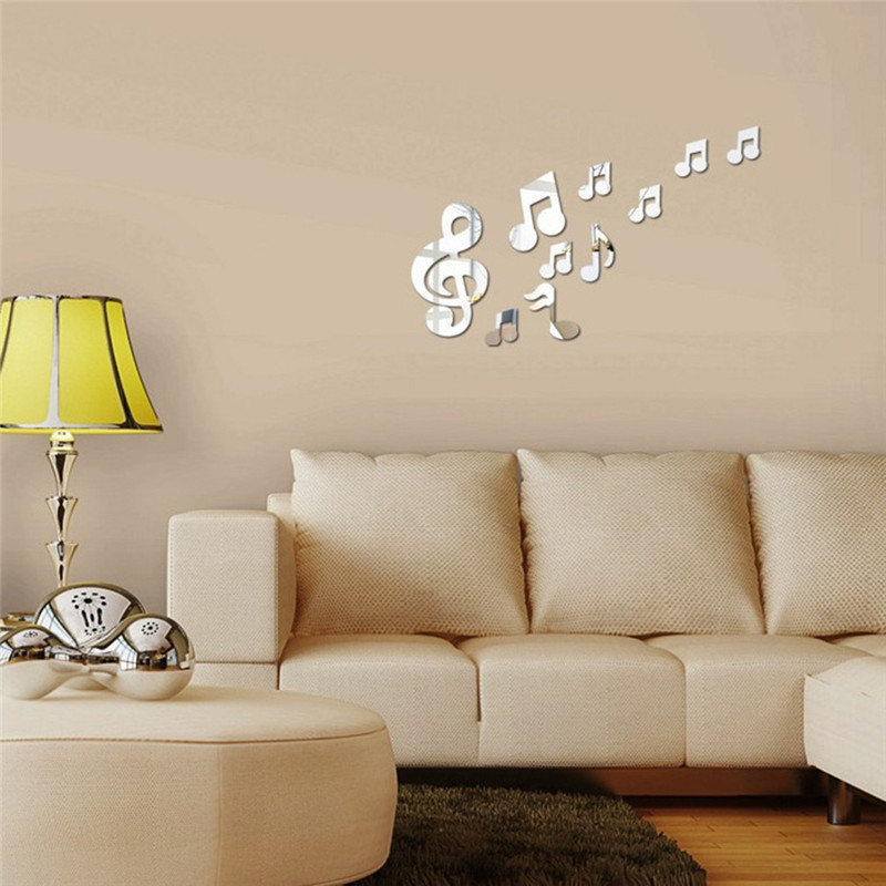 Aliexpress.com : Buy Mirror Surface Sticker Romantic Music ...