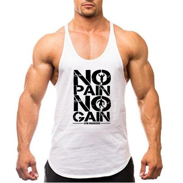 New Arrivals Bodybuilding stringer tank top man Cotton Gym sleeveless shirt men Fitness Vest Singlet sportswear workout tanktop 4
