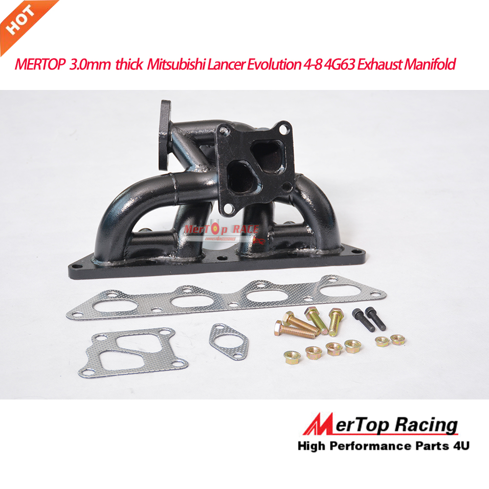 MERTOP RACE  3.0mm Thick  Lancer Evolution 4-8 4G63  4G63T Exhaust Manifold (OE Twinscroll)