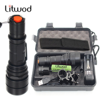 Litwod Z49188 CREE XML L2 Hunting Flashlight Professional 3800LM LED Light High Quality 5 Modes Zoomable
