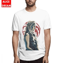 Khaleesi Daenerys Targaryen Mother Of Dragon T Shirt Game Of Thrones Tee Men's Quality Harajuku Tees Pure Cotton S-6XL T Shirt цена и фото