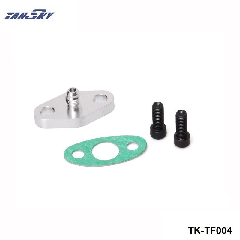 Garrett T3 T4 GT32 GT40 ~ GT42 Turbo Oil Feed Inlet 4AN Flange Gasket Bolt Kit
