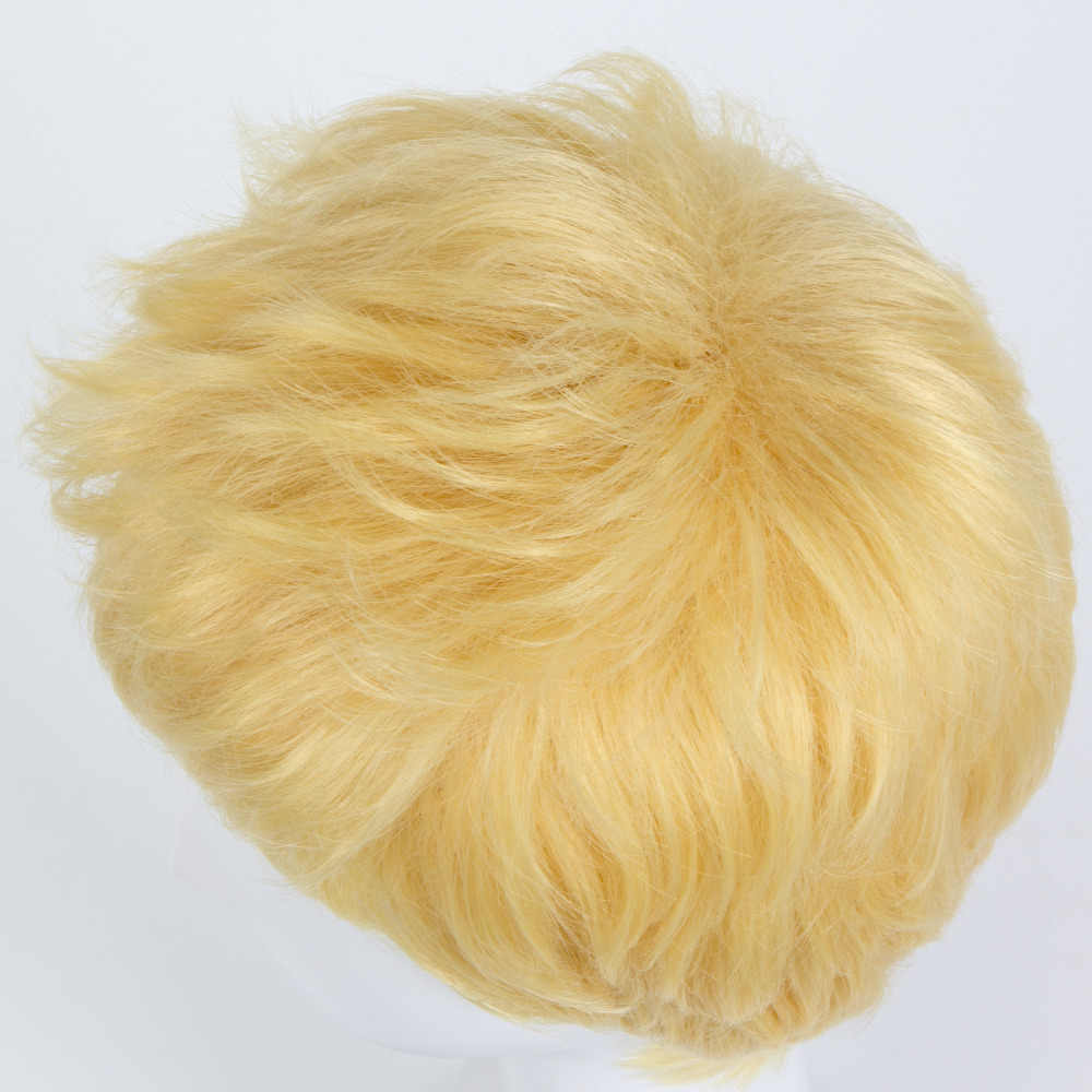 Мужские Persona 5 рюиджи Сакамото Короткие Золотые прически синтетические Косплей Полный парик Хэллоуин костюм вечерние парики + парик Кепка