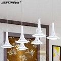 Branco 6*3 w led pingente luz led projeto chifre hanglampen acrílico luminária para sala de jantar moda marca jentinsun iluminações