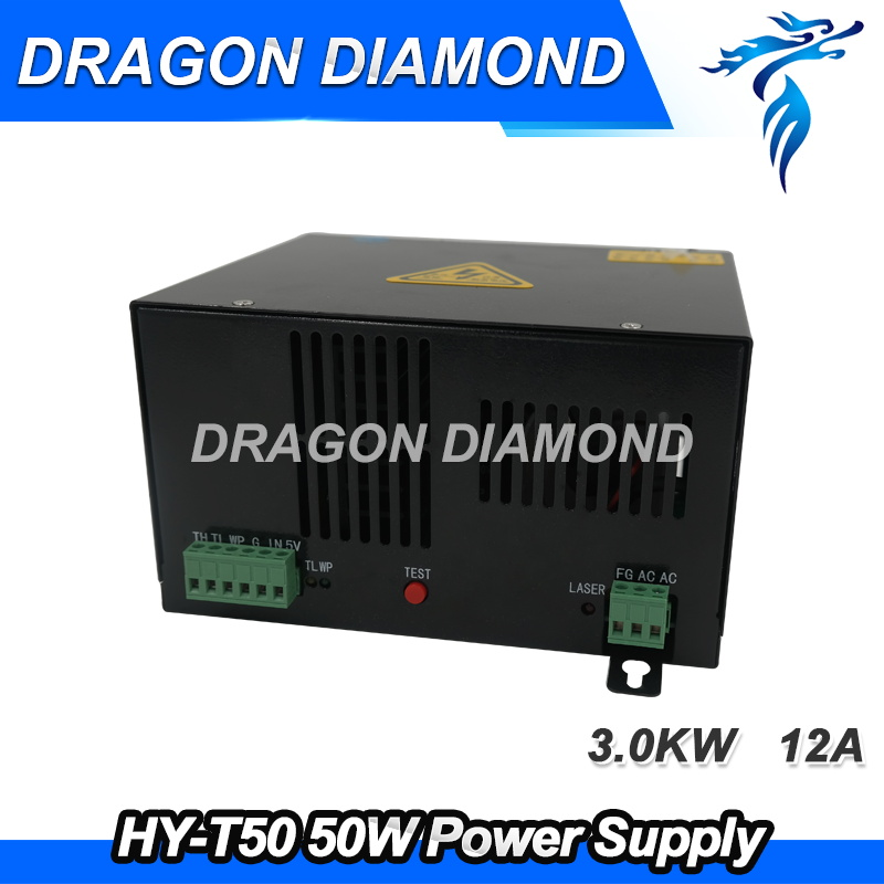 50W CO2 Laser Power Supply HY-T50 for CO2 Laser Engraving Cutting Machine high voltage flyback transformer hy a 2 use for co2 laser power supply