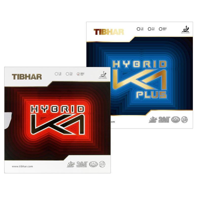 TIBHAR HYBRID K1 / K1 PLUS (Sticky Rubber + Tension Sponge, Forehand Offensive) Pips-in Table Tennis Rubber Ping Pong Sponge