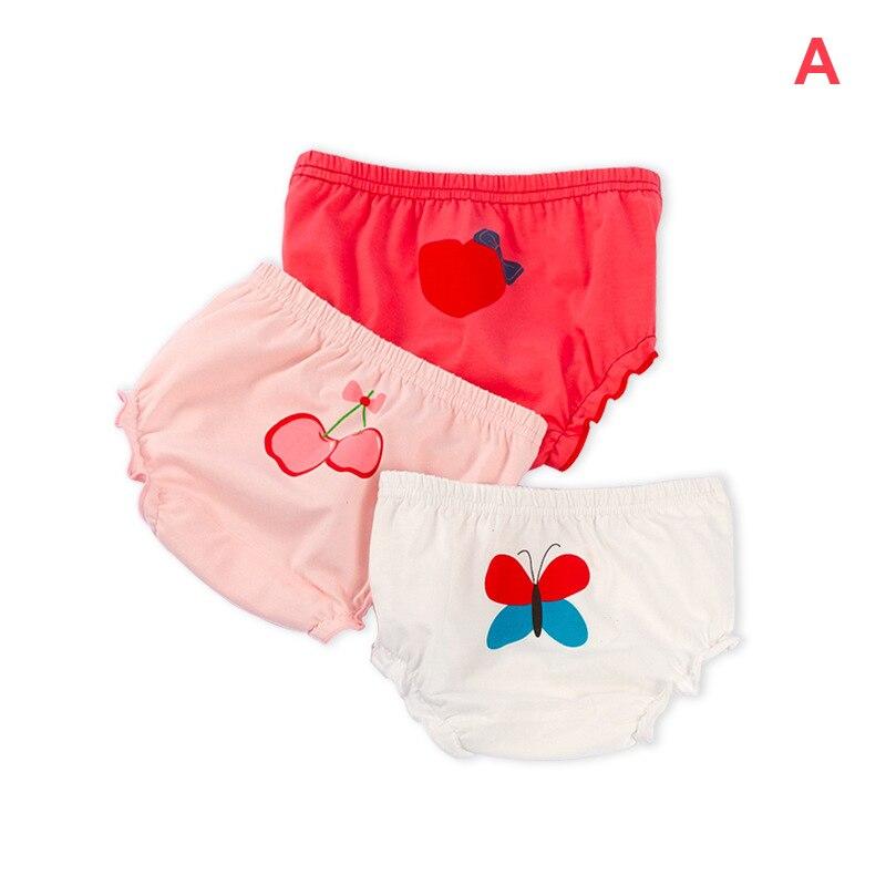 3 pcs bebe algodao roupa interior pao calcas bonito animais imprimir elastico respiravel briefs m09