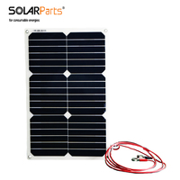Solarparts 18w flexible solar panel soalr cell module forback junction box  car/yacht/Rv/LED light  12v battery charge