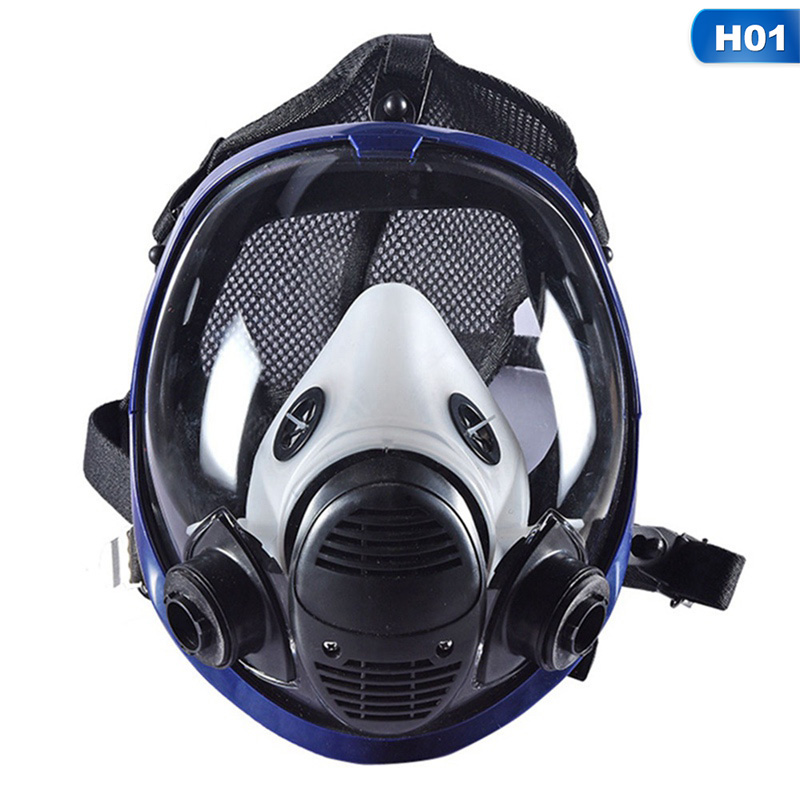 Chemical Mask 6001 Gas Mask Acid Dust Respirator Paint Pesticide Spray Silicone Filter Laboratory Cartridge Welding free shipping 100l high powerful acid chemical laboratory mixer