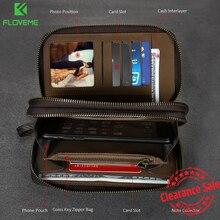 FLOVEME Универсальный кожаный бумажник чехол для мобильного телефона iPhone 6 6S 7 Plus 5 5S SE для samsung Galaxy S8 S8 плюс S5 S6 S7 край чехол сумка