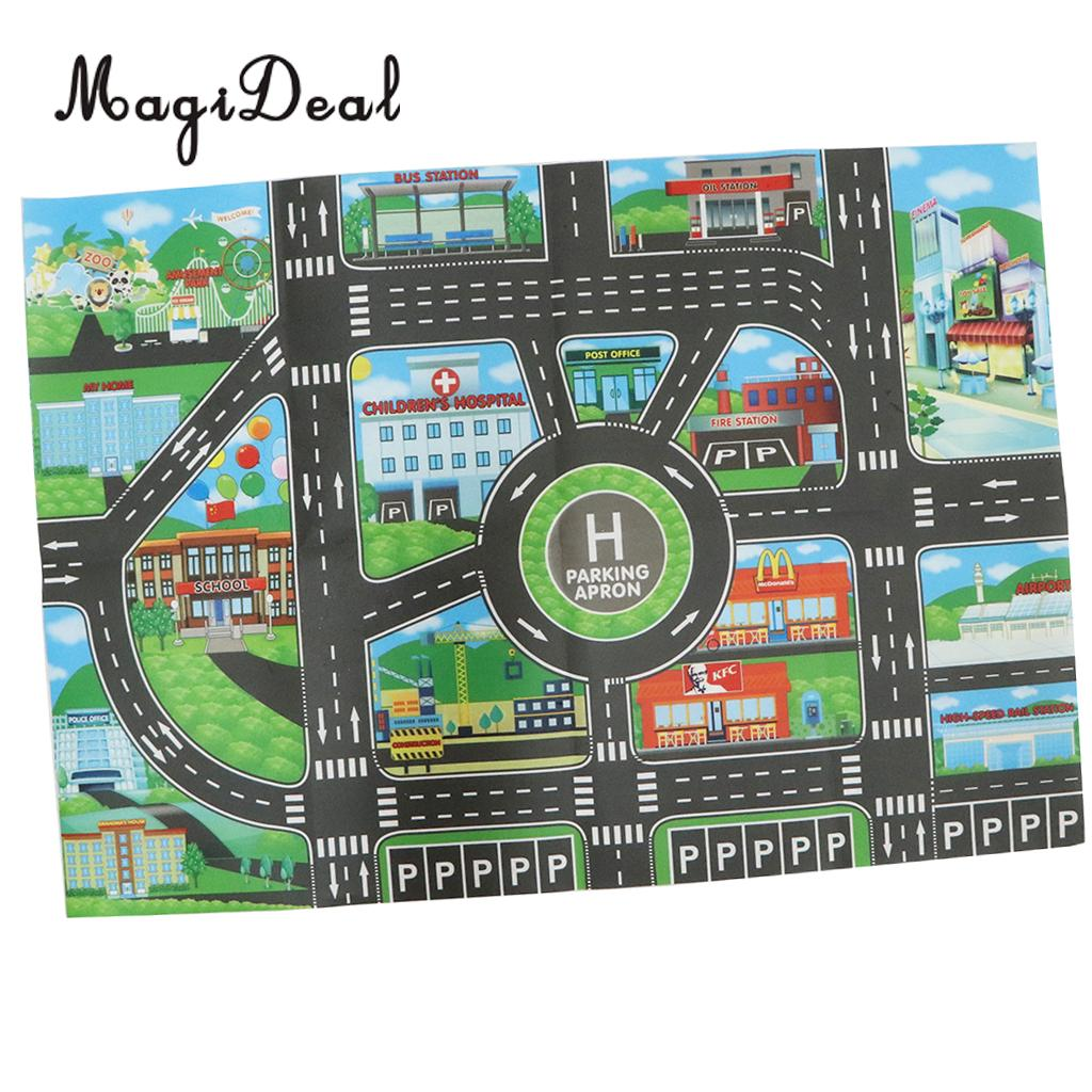 City Traffic Road Carpet Playmat Rug For Cars Train Game Toys Baby Children Educational Play Mat Innrech Market.com