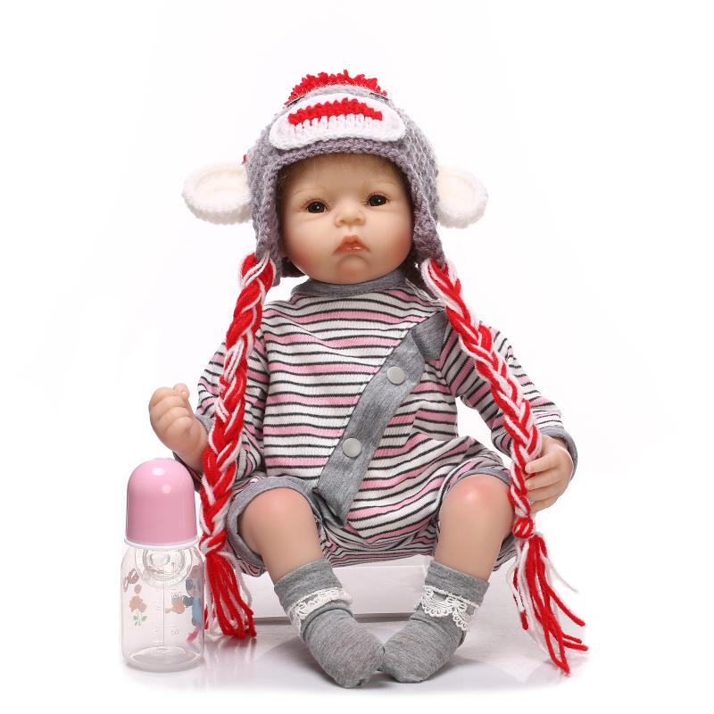 55cm NPK COLLECTION DOLL Silicone Reborn Baby Doll Toy Lifelike Real Touch Newborn Boy Babies Child Birthday Gift Play House Toy цена