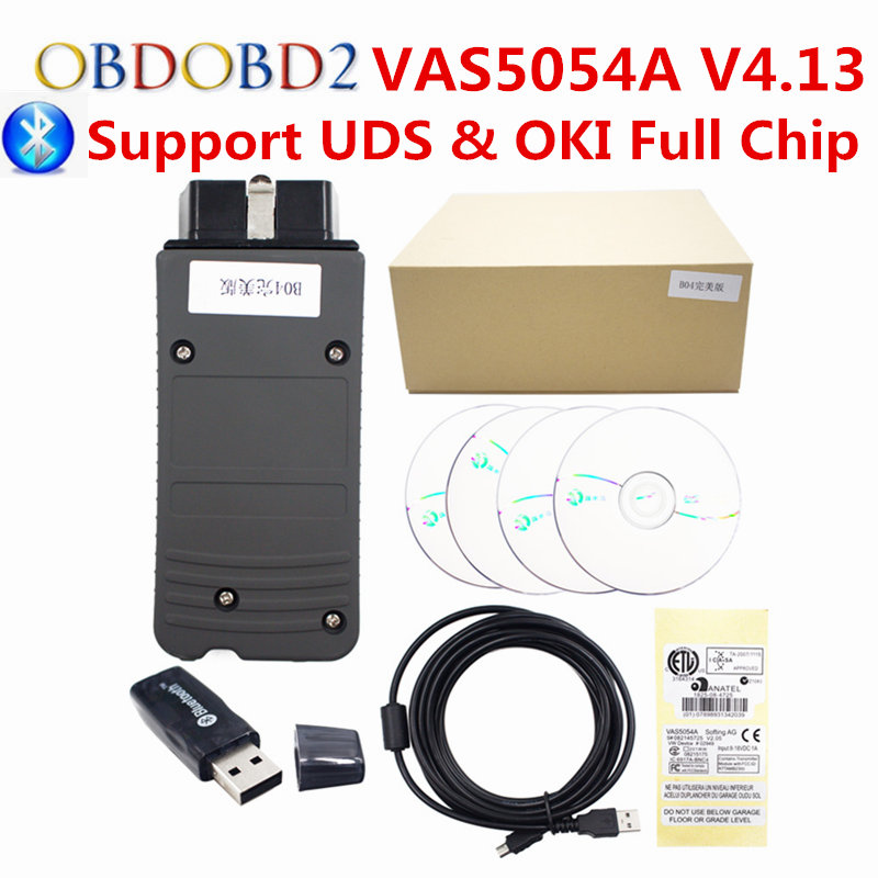 VAS5054A ODIS V4.13 OKI Full Chip Car Diagnostic Tool Scanner VAS 5054A Bluetooth USB For Audi VAS5054 A Support UDS Protocol