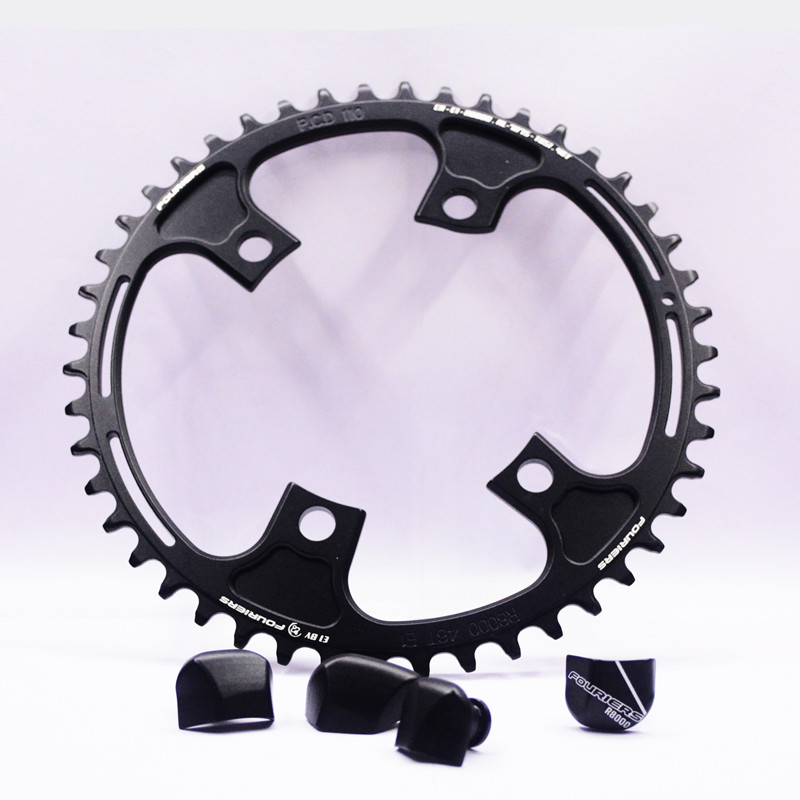FOURIERS FC-R8000 Single Chain ring road Bicycle PCD 110 MM Chainwheel Crankset 42T/46T fouriers cross chainring system a7075 alloy cross country road bike chain ring chainwheel road bikes parts pcd 110mm 38t 40t 42t