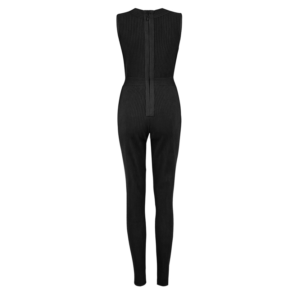 Seamyla New Arrival Women Jumpsuits Sexy Sleeveless Bodycon Club Bodysuits Apricot Black V Neck Skinny Cocktail Party Jumpsuit