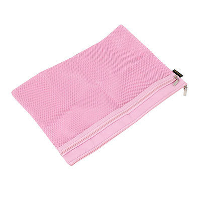 Pink Nylon Mesh Pattern 2 Compartments A4 Paper Document File Zipper Bag Holder active camouflage pattern mesh gym tracksuit in pink