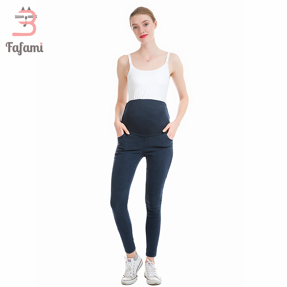 Womens Colored Skinny Jeans Plus Size Maternity Jeans Skinny Pants Capris for pregnant pregnancy clothes Elastic waist leggings fashion plus size s 4xl pu leather jeans splice women elastic waist high stretch denim pants trousers skinny pencil pants