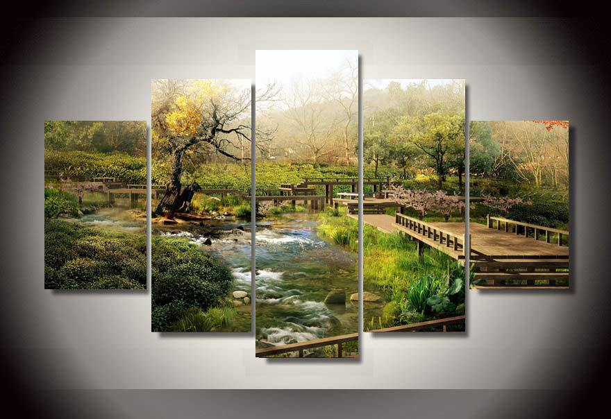 3 Panel Natural Landscape Canvas Art Print Painting Aurora Photography Pine Tree Plant Wall Picture For Living Room Home Decor