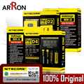 100% Originele Nitecore D4 D2 Nieuwe I4 I2 LCD Intelligente Lader Li-Ion 18650 14500 16340 26650 AAA AA 12V acculader Auto Eu