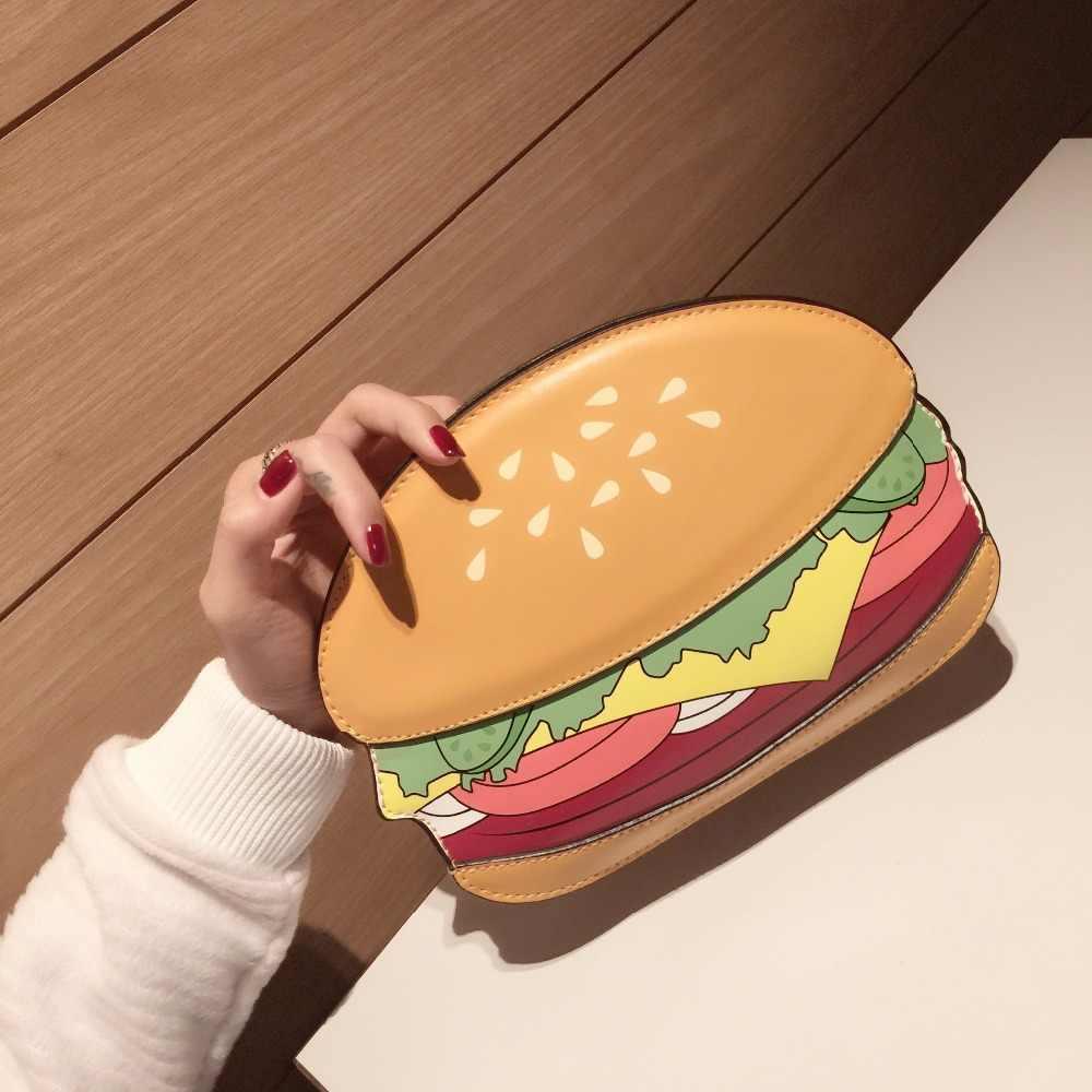 Hot personnalisé mode hamburger frites pop-corn modélisation mini rabat fille messenger sac sac à bandoulière sac à main pochette sac à main portefeuille