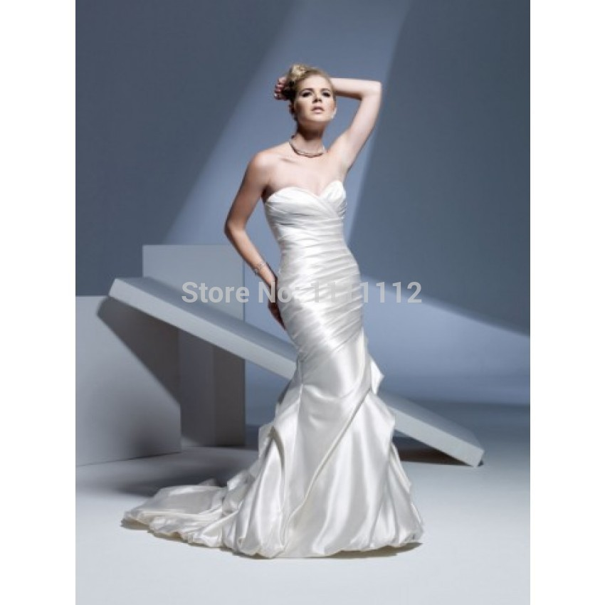 Ruching Wedding Gowns: Aliexpress.com : Buy Nitree Sexy Mermaid Sweetheart