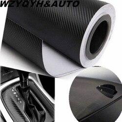 30 см x 127 см 3D углеродное волокно виниловая пленка для автомобиля рулонная пленка наклейки и наклейки для автомобиля аксессуары для стайлинг...