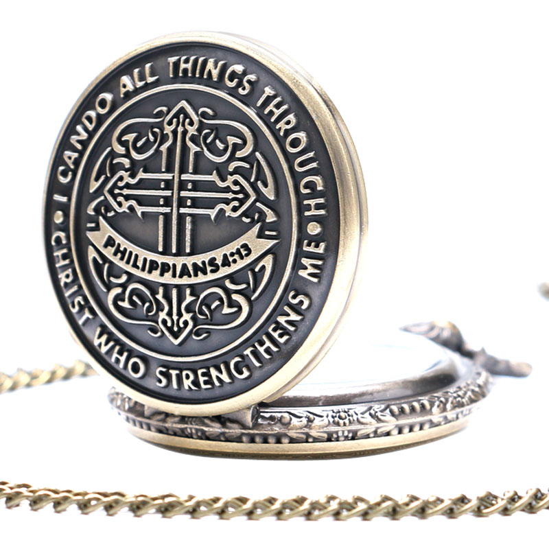 I Can Do All Things Through Christ Who Strengthens Me Bible Philippians 413 God Jesus Christian Pocket Watch Religious Pendants 2018 (4)
