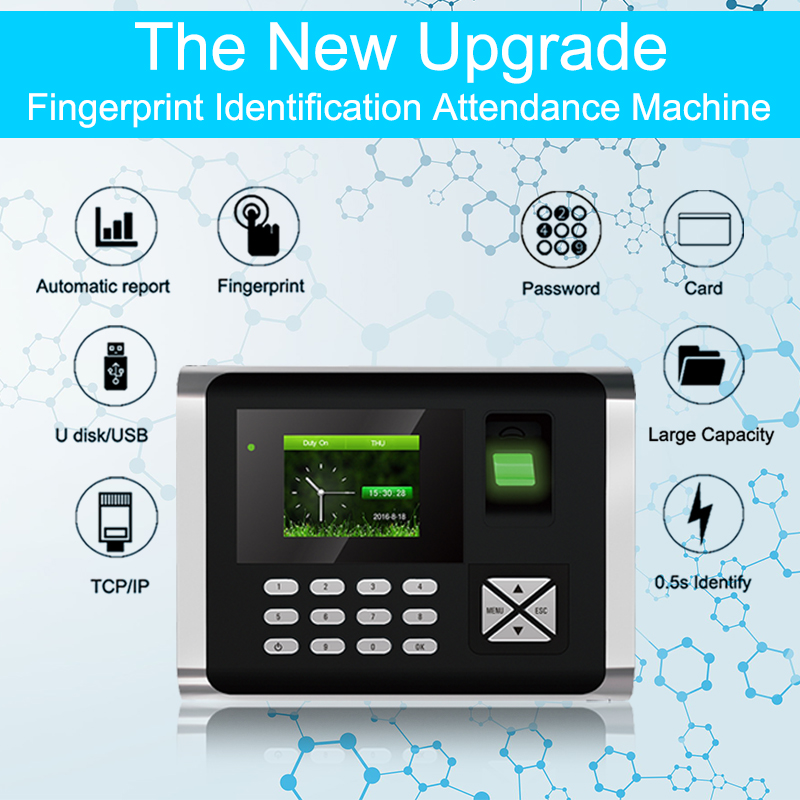 OULET Biometric Time Attendance System TCP/IP USB Fingerprint Access Control System Time Clock Recorder Employees Device Reader k14 zk biometric fingerprint time attendance system with tcp ip rfid card fingerprint time recorder time clock free shipping