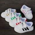 Outono moda de nova placa shoes crianças shoes meninos meninas das crianças s cabeça shell esportes casual shoes eua 5-13 nenhuma caixa s001