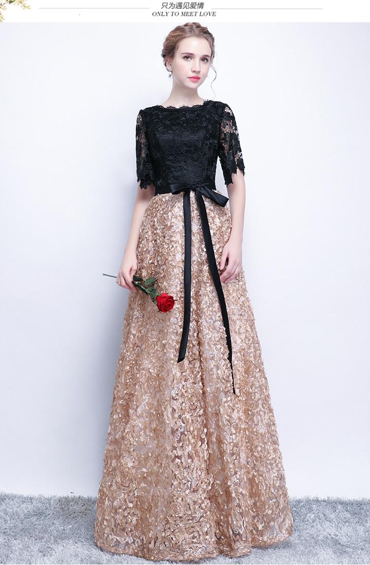 aeca87055 XS Negro elegante largo ocasión especial de la madre de la novia ...