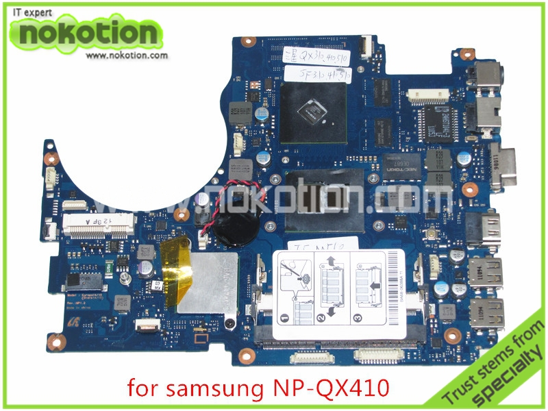 BA92-07035B BA92-07035A For samsung NP-QX410 QX510 Laptop motherboard core i5 with GeForce GT310M DDR3 ba92 05127a ba92 05127b for samsung np r60 r60 laptop motherboard ddr2 intel ati rs600me