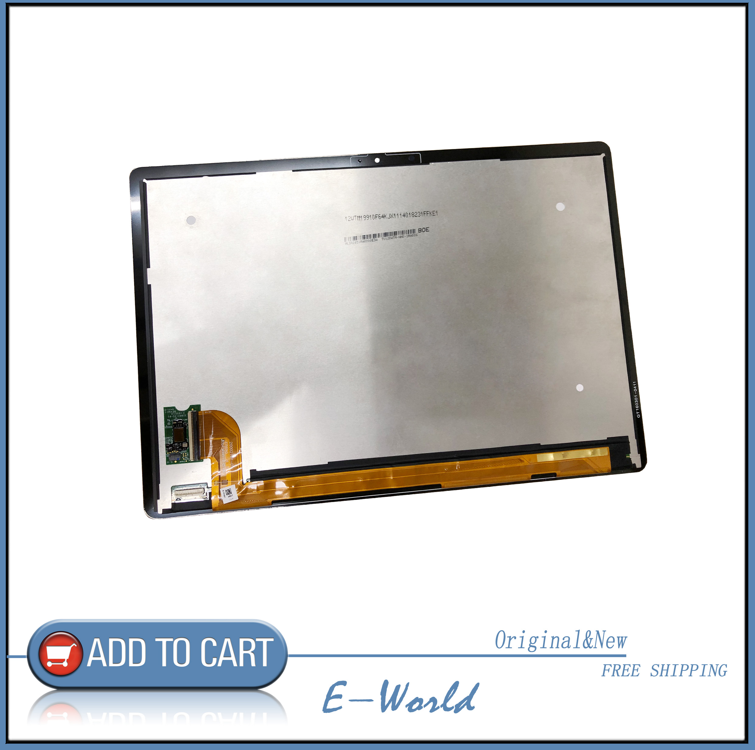 Original 12inch LCD screen with Touch screen 20002167-04 E250743 GT160301-0411 GT160301 free shippingOriginal 12inch LCD screen with Touch screen 20002167-04 E250743 GT160301-0411 GT160301 free shipping