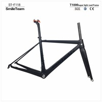 SmileTeam Ultralight Toray T1000 Carbon Road Frame Top Quality UD Matte Full Carbon Road Bicycle Frame