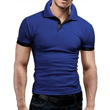 Oeak Men New Summer Solid Color Short Sleeve Turn-over Collar Fashion Polo Shirts Slim Fit Casual Business Breathable Polo Shirt(China)
